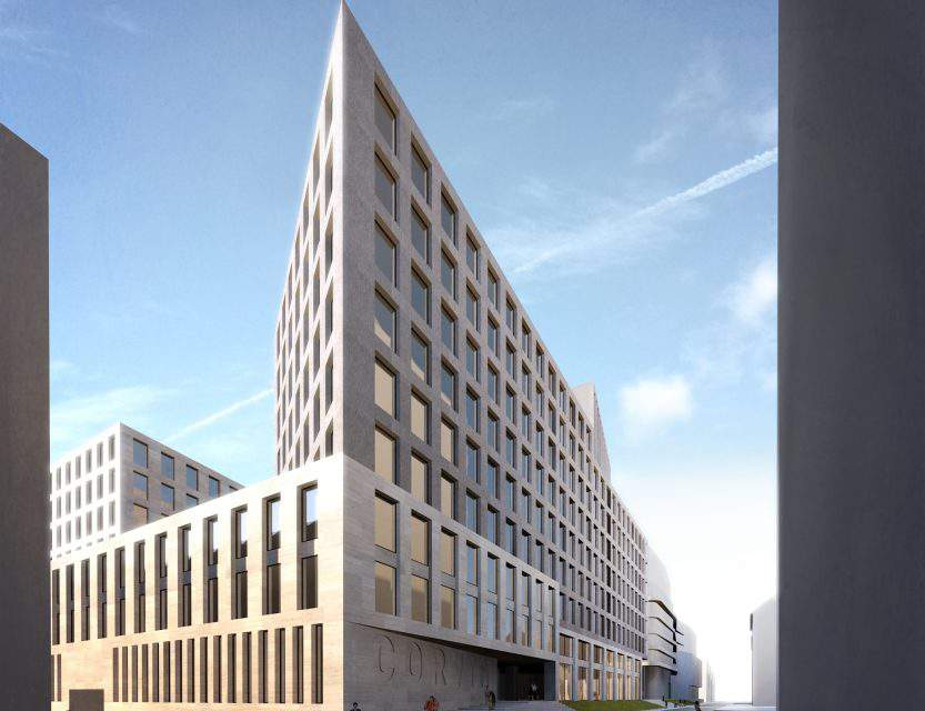 The construction of Corvin 5 office building has started in Budapest