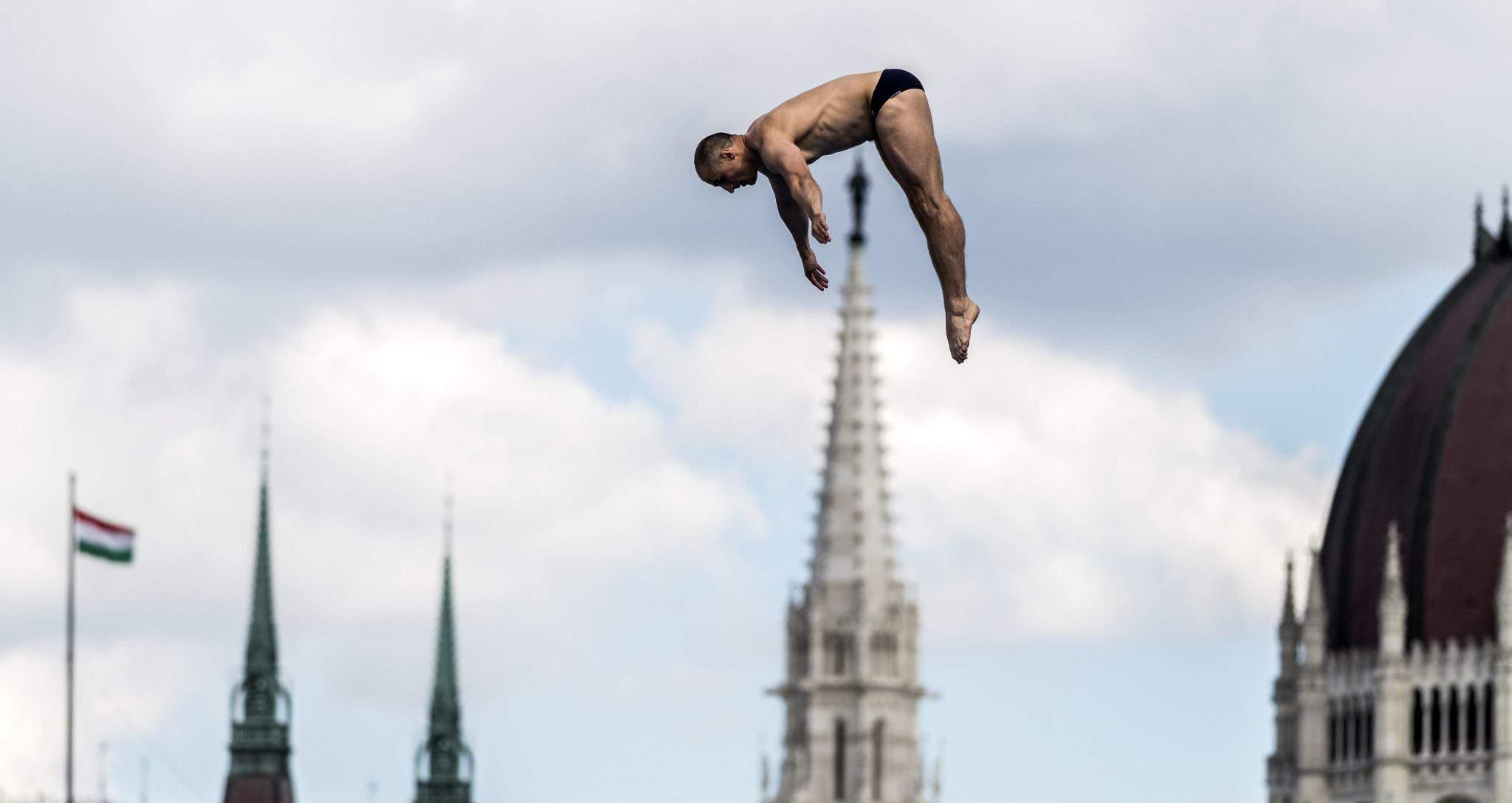 high diving Budapest