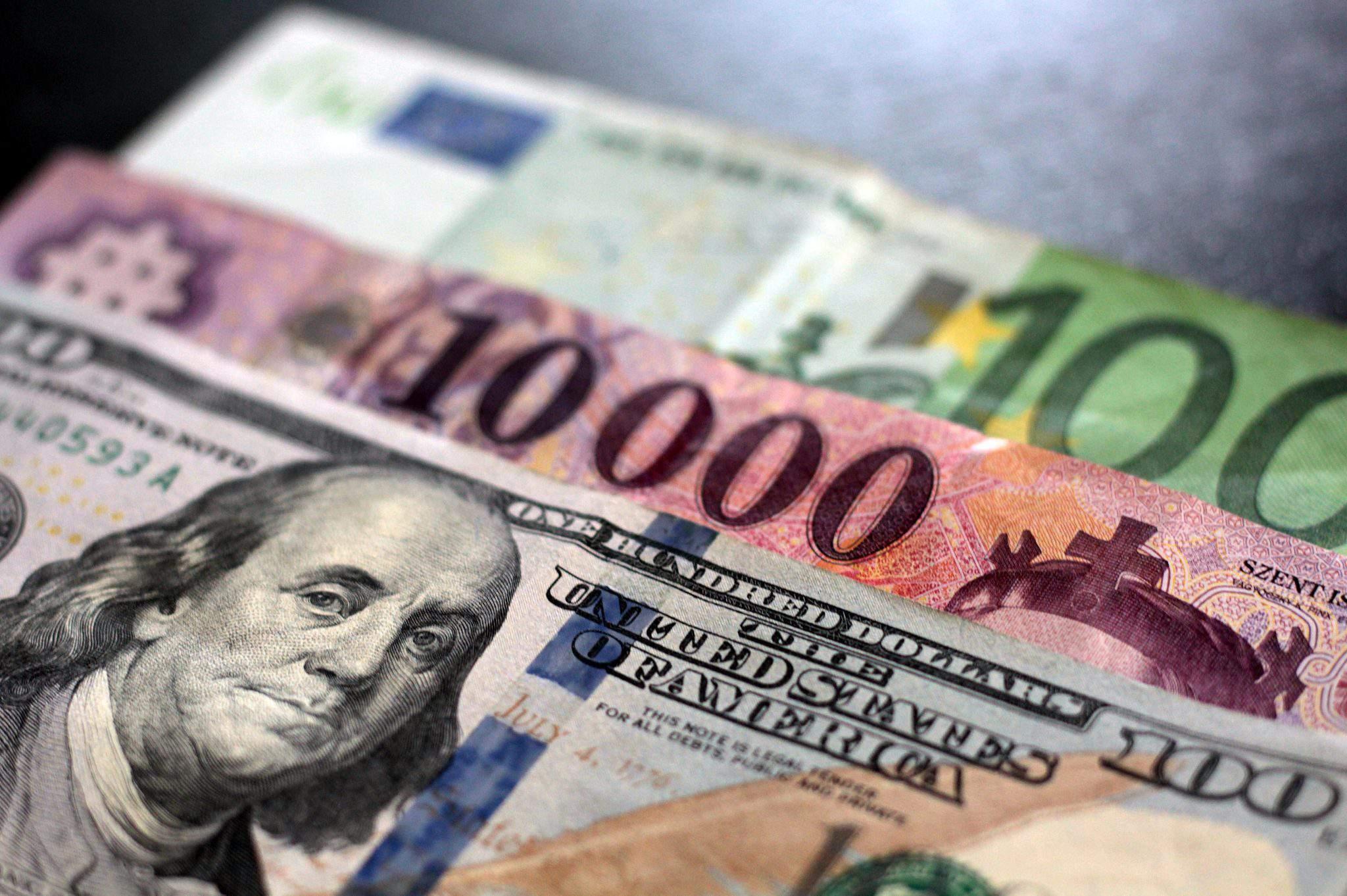 forint usa dollar euro