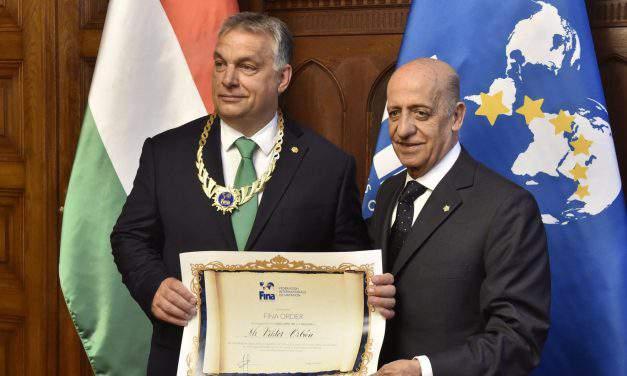 Orbán awarded FINA's highest honour