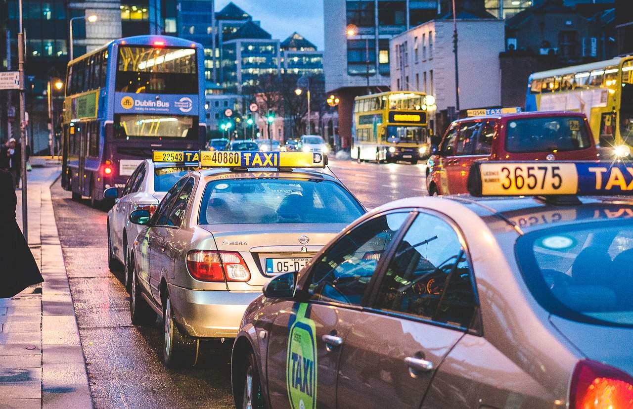 taxi city travel cab