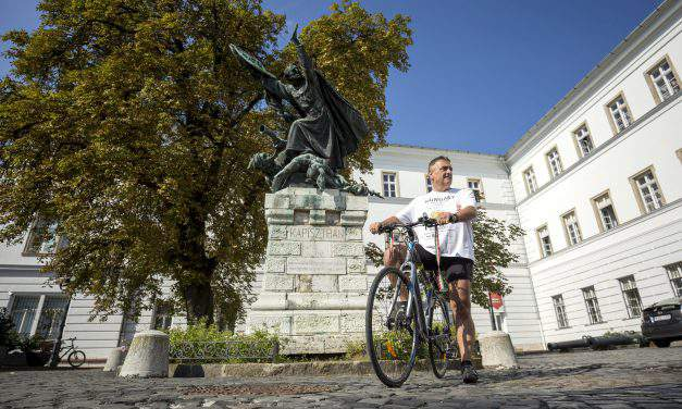 WWI memorial bicycle tour leaves for one-time POW camp in Italian island of Asinara