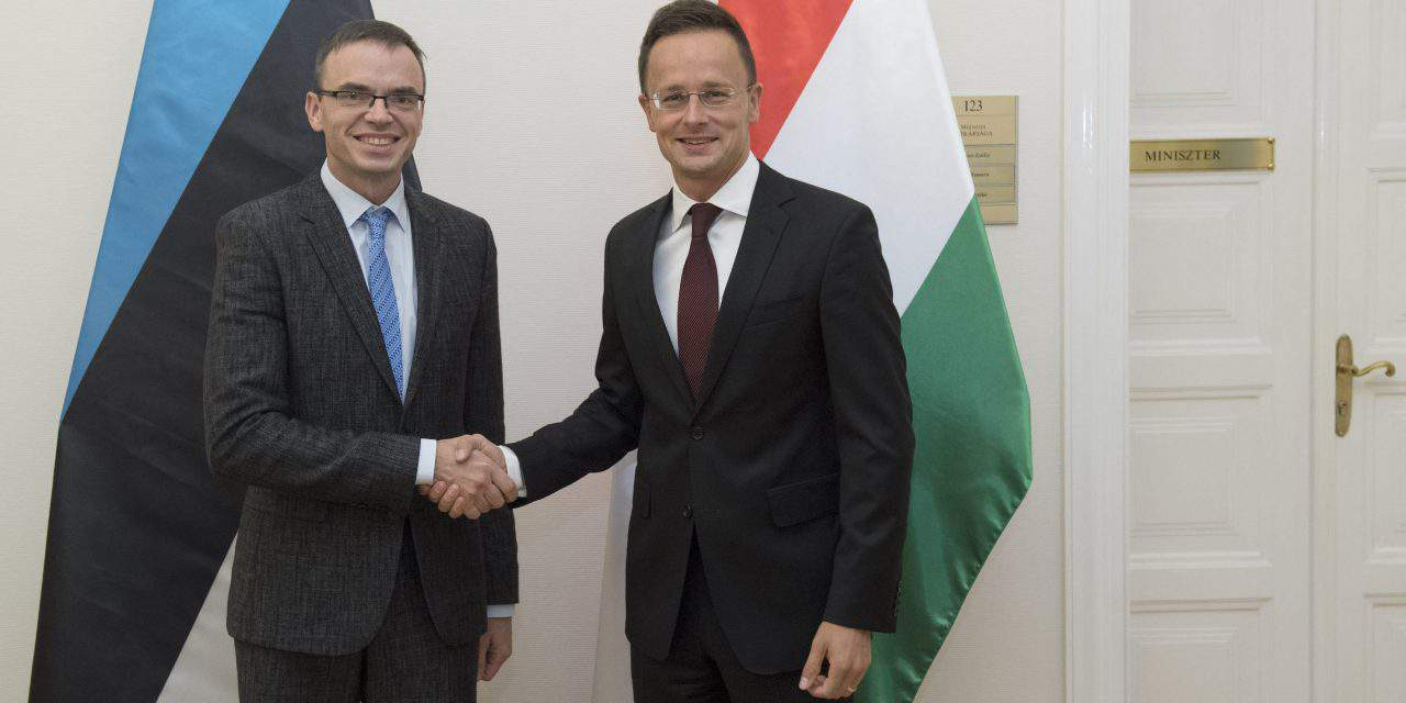 Hungarian foreign minister holds talks with Estonian counterpart