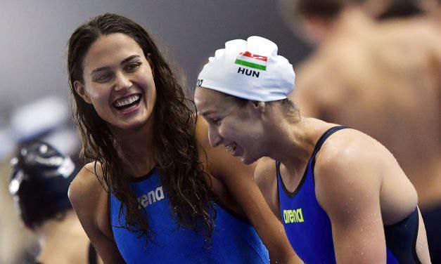 Swimmer Zsuzsanna Jakabos married her coach Iván Petrov