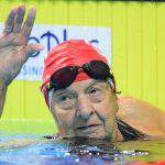 Amazing world record by a 96-year-old woman at the FINA Masters World Championships in Budapest