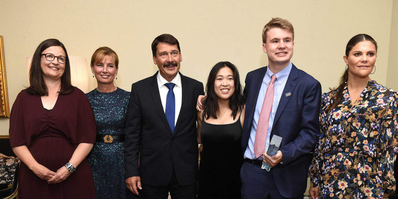 Hungarian President Áder congratulates winners of Junior Water Prize in Stockholm