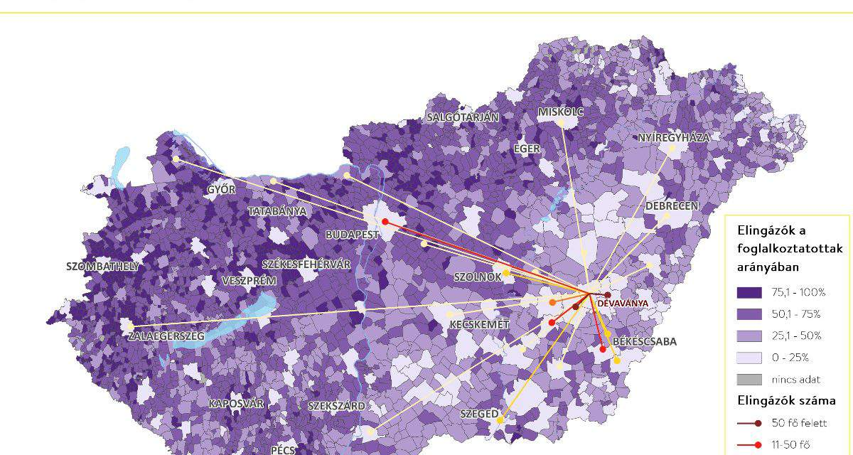 Every third employee in Hungary is a commuter