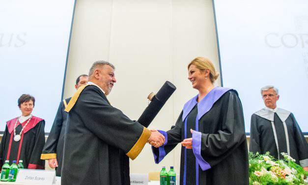 Croatian President Kolinda Grabar-Kitarovic visits Hungary