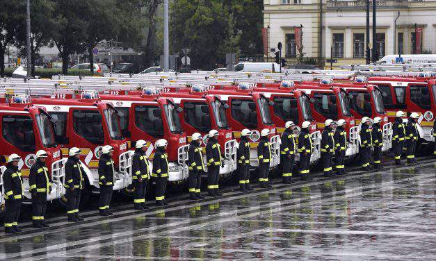 Emergency Management Agency acquired twenty-five fire engines