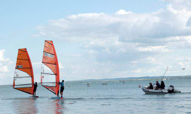 The competitions of the Raceboard European Championships have started in Balatonfüred