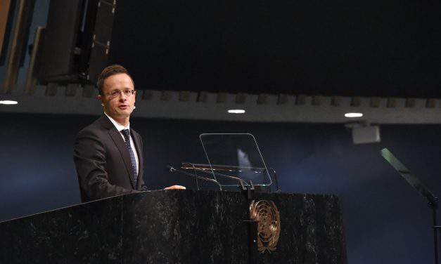 Foreign minister highlights Central European challenges in UN General Assembly address