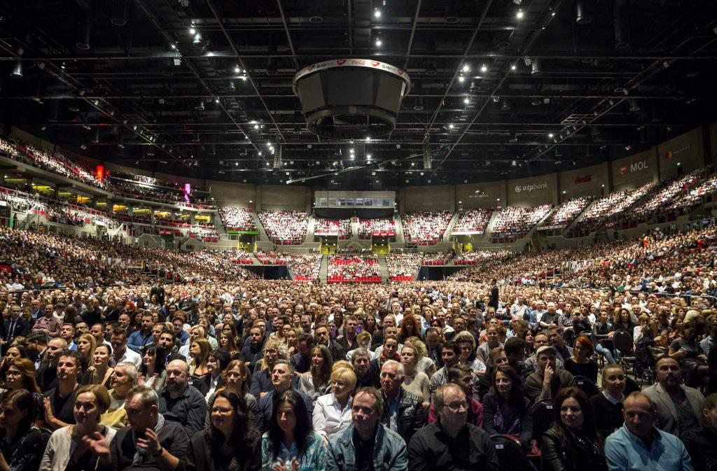 Morricone's concert in Budapest Arena, photo: MTI