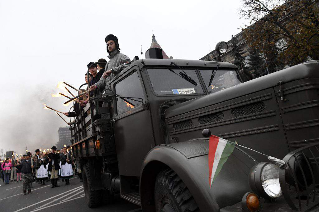 Commemorations of Hungary's 1956 anti-Soviet uprising started in Budapest, photo: MTI