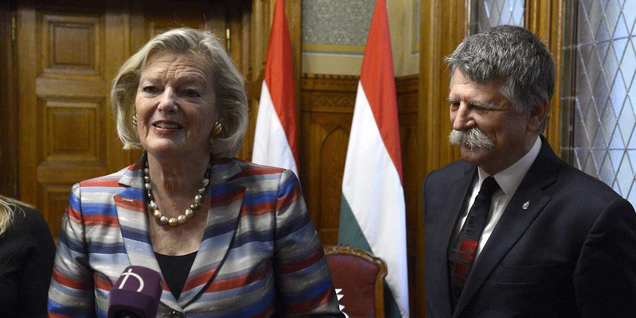 Hungarian house speaker meets Dutch senate president