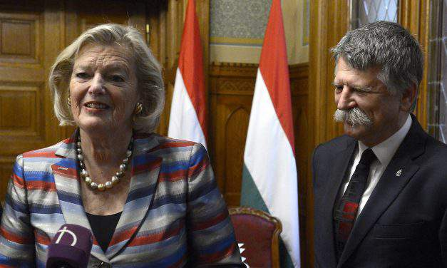 Hungarian house speaker meets Dutch senate president