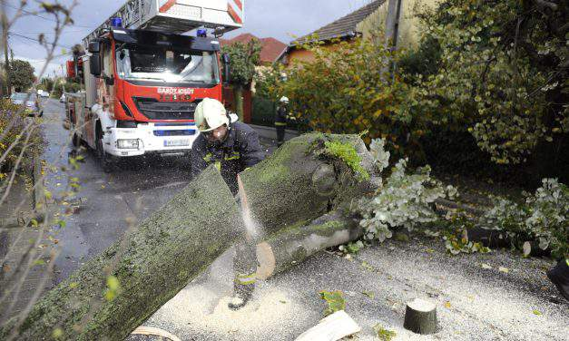 Massive storms left huge trails of destruction in Hungary