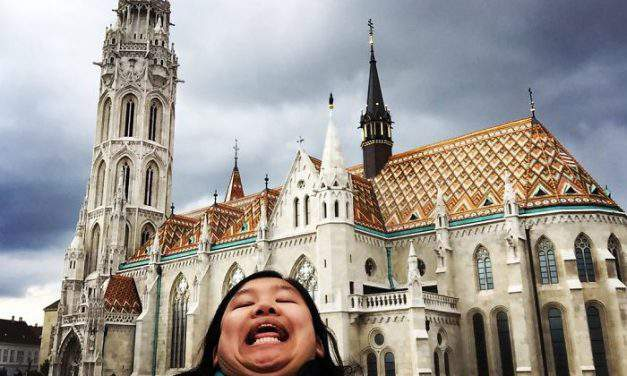 Tourist photos of Budapest with a funny twist
