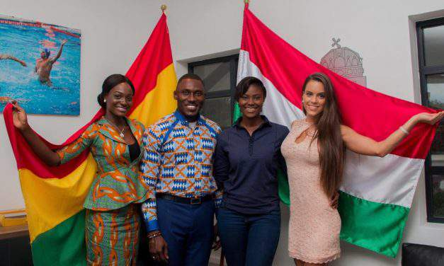 Hungarian beauty queen on humanitarian mission in Ghana
