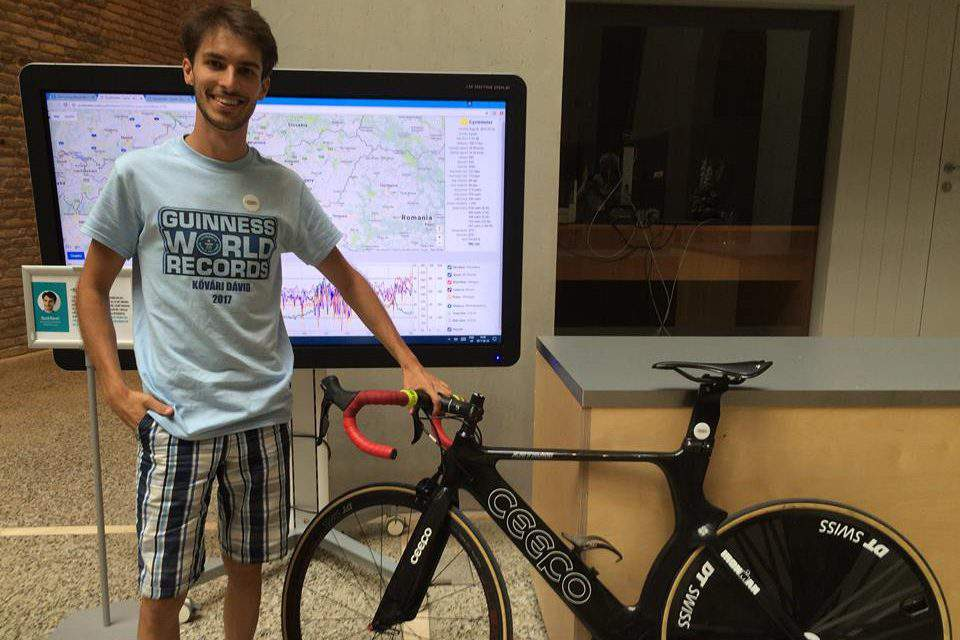 A Hungarian man cycled through seven countries without sleeping