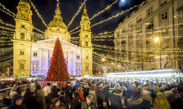 From today: Europe's 4th best Christmas market welcomes you at St Stephen's Basilica!