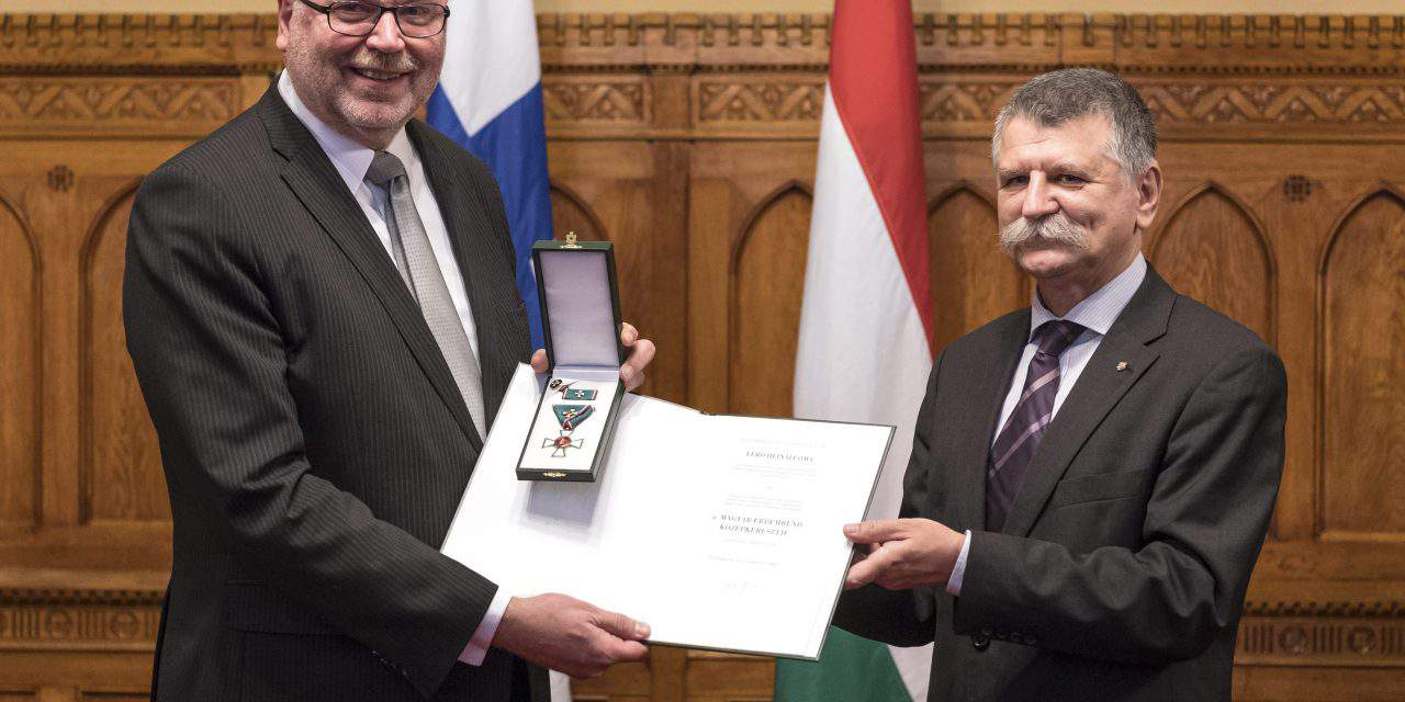 Former Finnish parliament speaker receives Hungary state honour