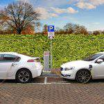 Electric cars being charged.
