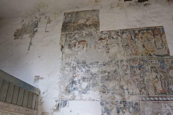 Medieval frescoes of Saint Ladislaus uncovered