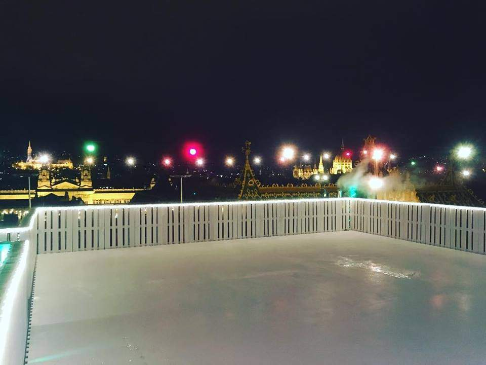 The Coolest Ice Rink Above The City Of Budapest Daily