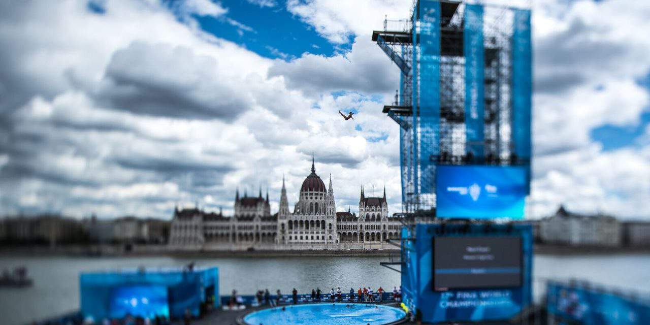 The Budapest World Aquatics Championship's high diving tower chosen as the sport venue of the year