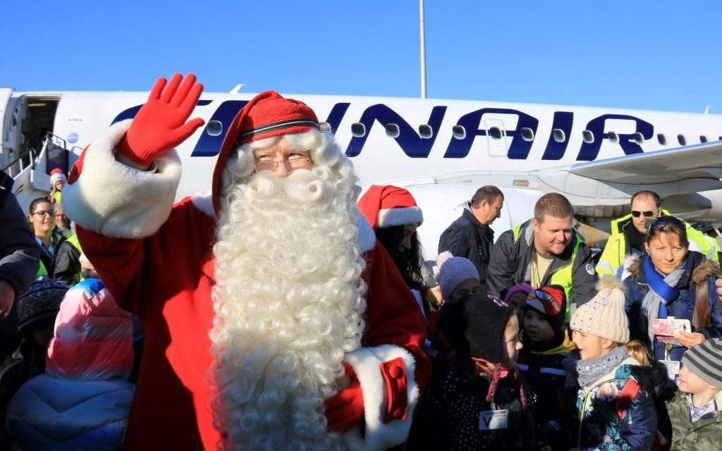 Joulupukki, the real Finnish Santa, arrives in Budapest