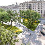 Danube bank getting green at Buda