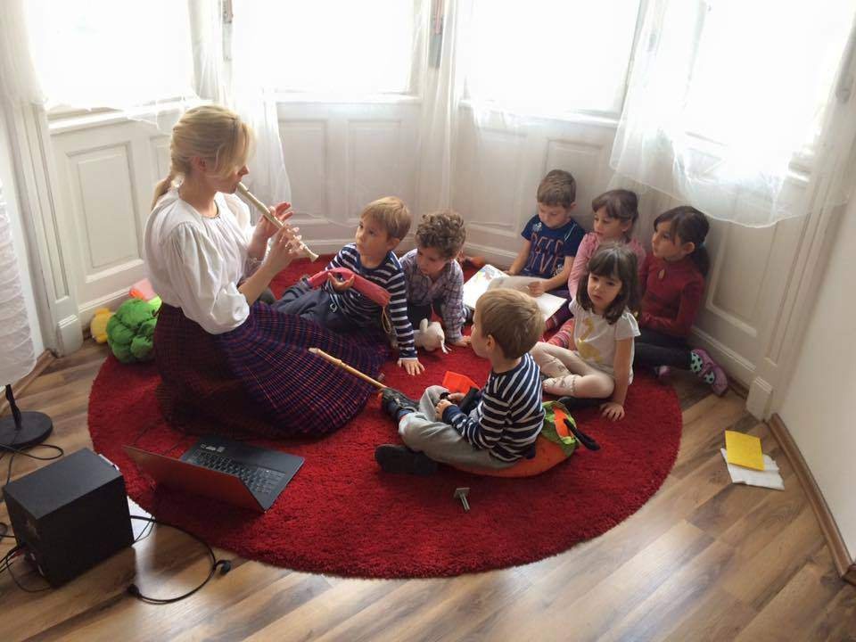 class classroom children music school