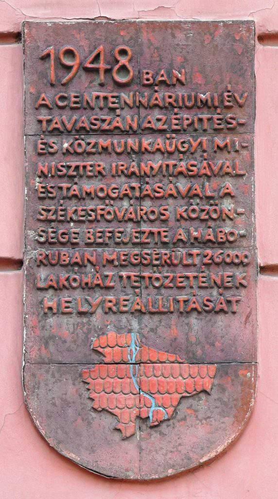 Hungary Budapest war damage plaque