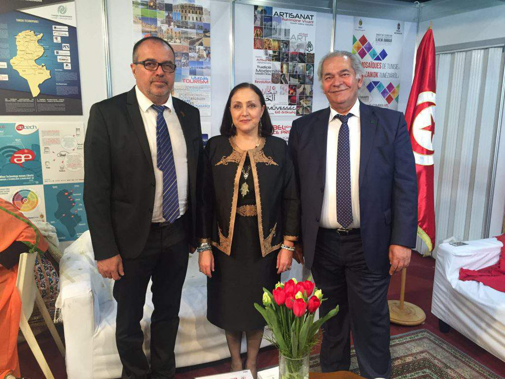 Sándor BALOGH, Head of the Hungarian-Tunisian Business Council, H. E. Ms. Samia Ilhem AMMAR, Ambassador Extraordinary and Plenipotentiary and Zoubeir CHAIEB, Cho-Chair of the Hungarian-Tunisian Business Council