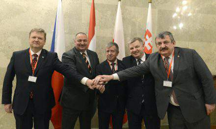 V4 sign declaration on defence cooperation