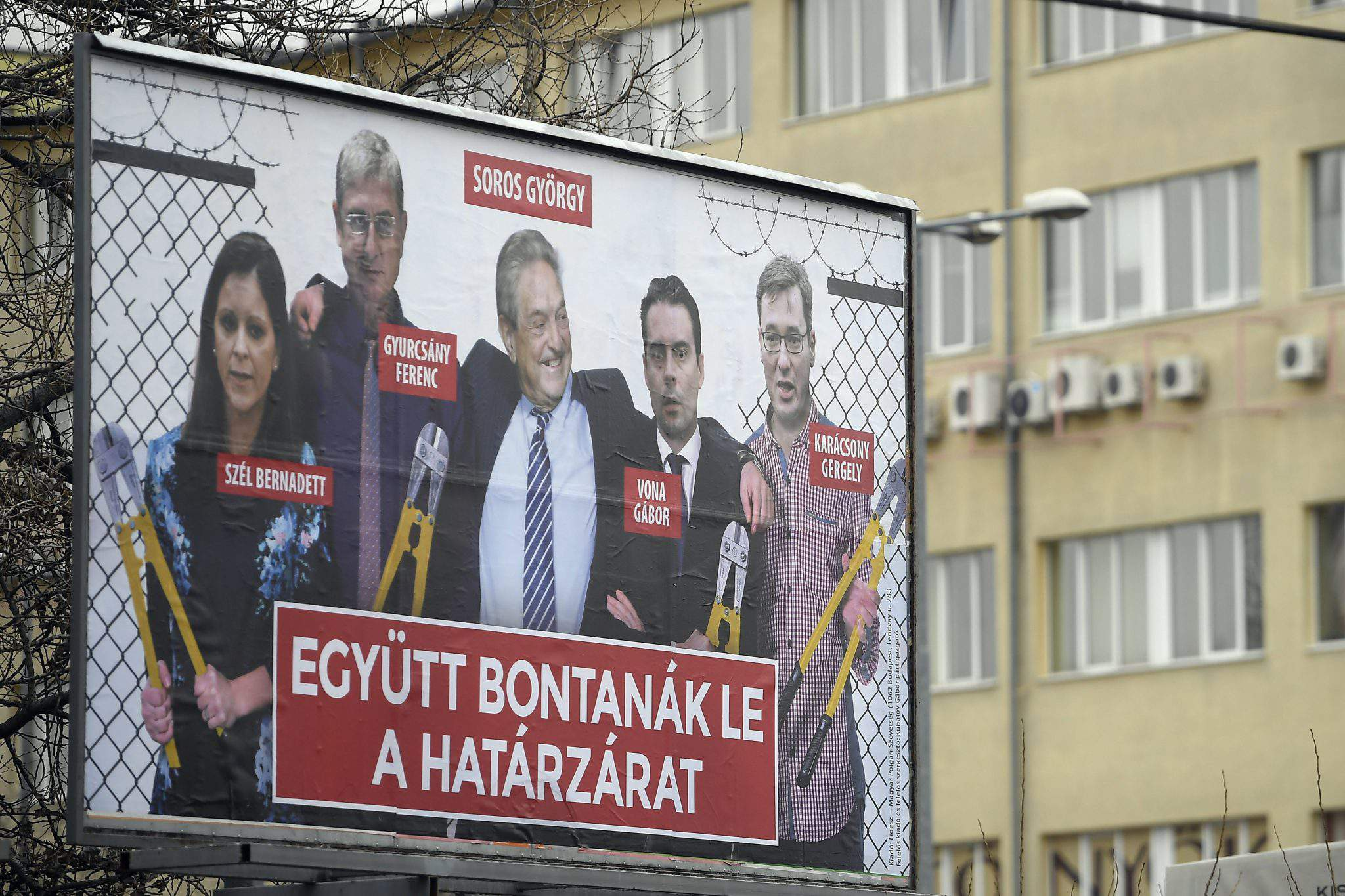 soros billborard hungary fidesz