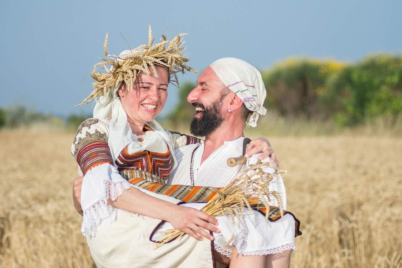 Bulgarian Bulgaria harvest traditional