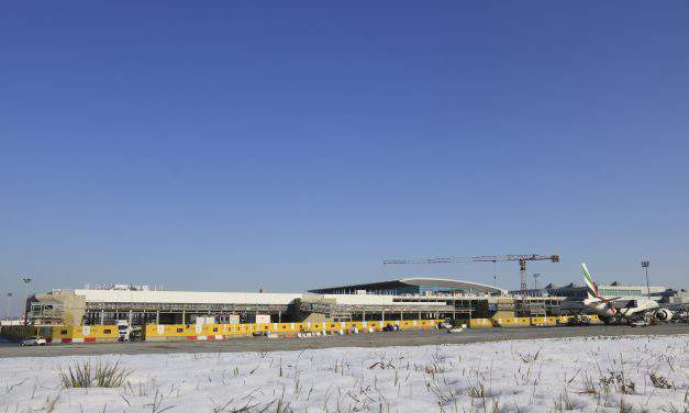 Cranes depart from Budapest Airport construction site