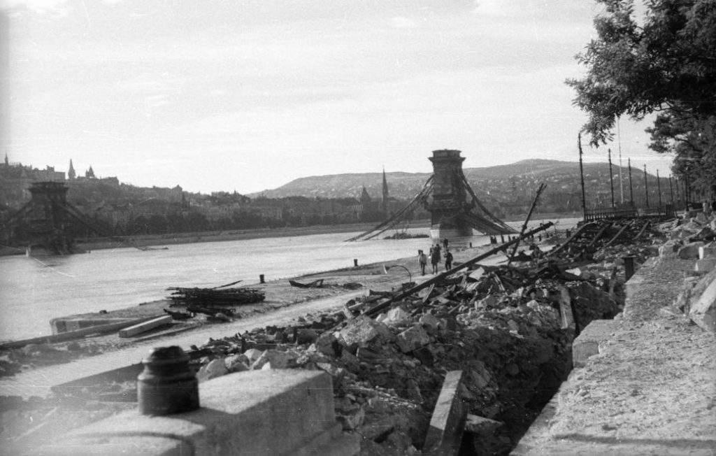 Hungary Budapest war bridge