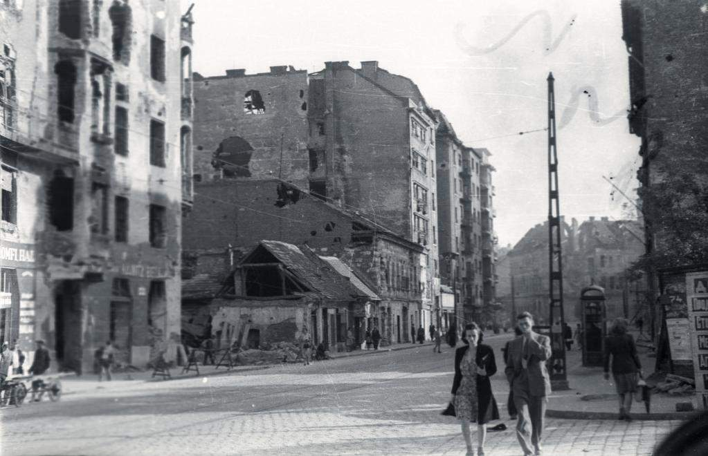 Hungary Budapest war destruction building