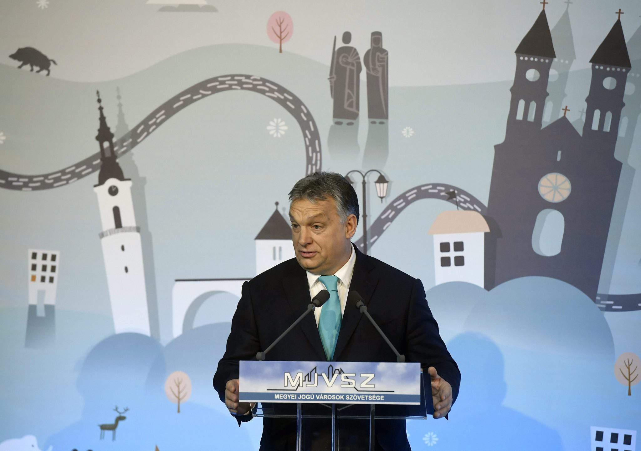 viktor orbán talk Veszprém prime minister