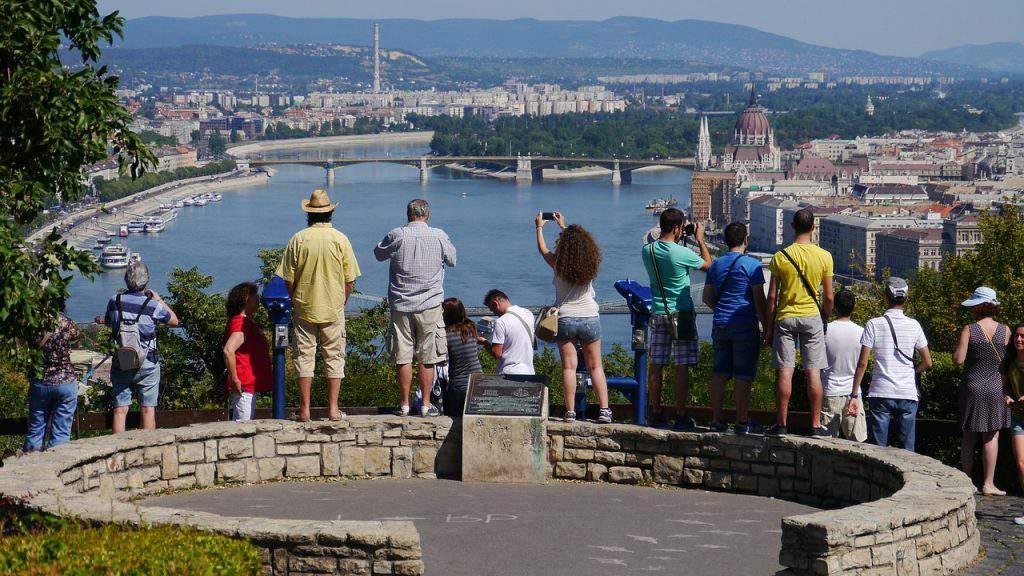 Gellérthegy Gellért Hill Budapest view kilátás