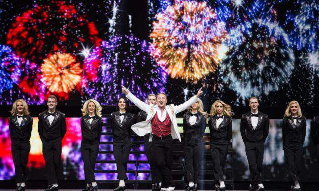 Hungarian dancers perform in Michael Flatley's super production