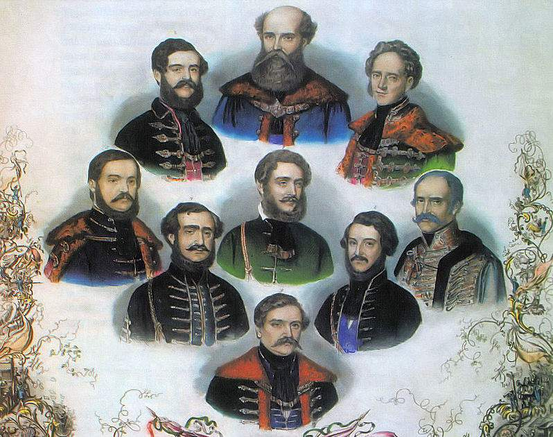 Political heroes of the Hungarian Revolution of 1848-1849