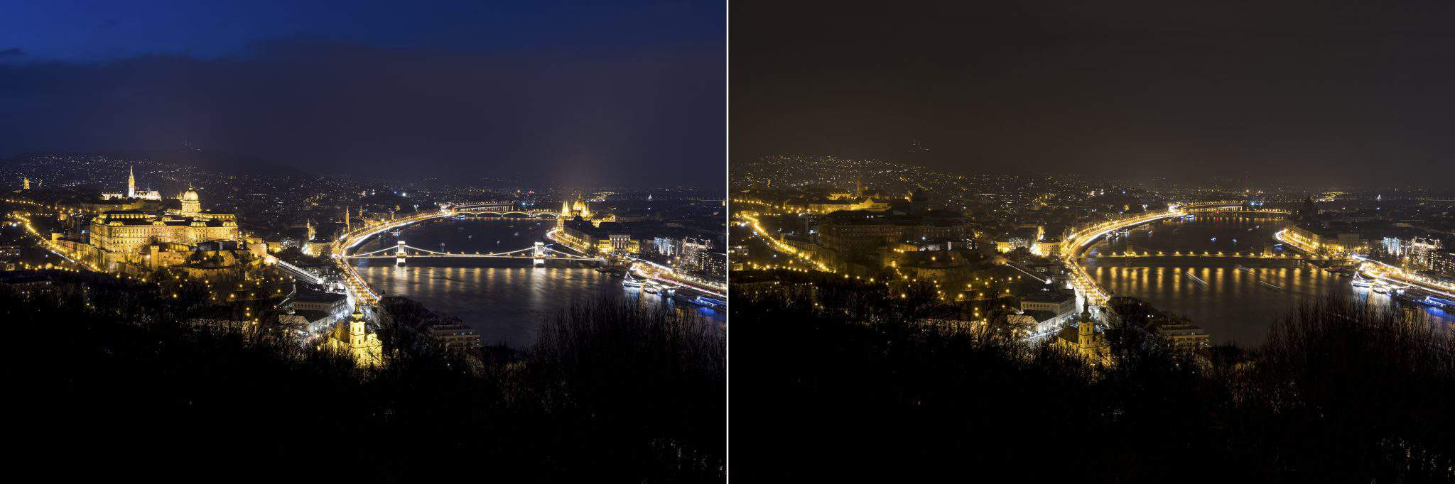 Earth Hour in Budapest