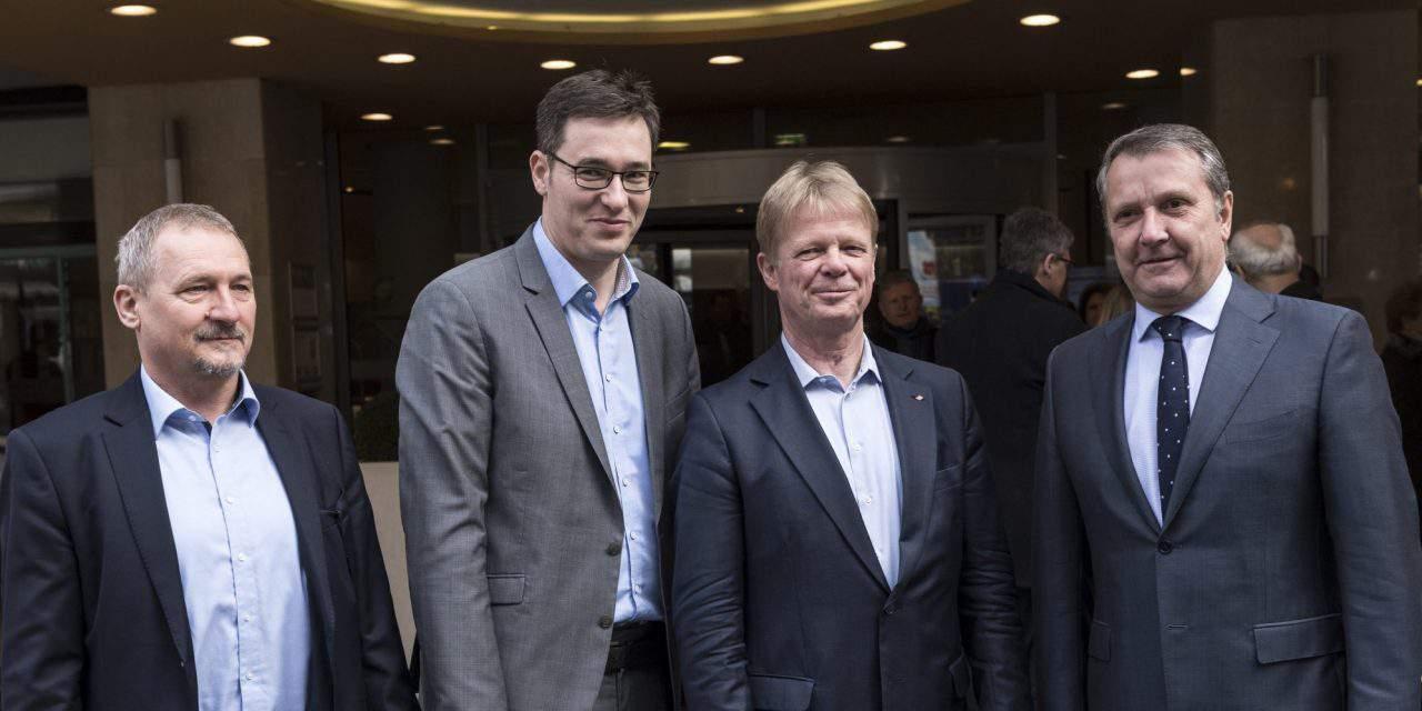 PM candidate Karácsony meets German union leader