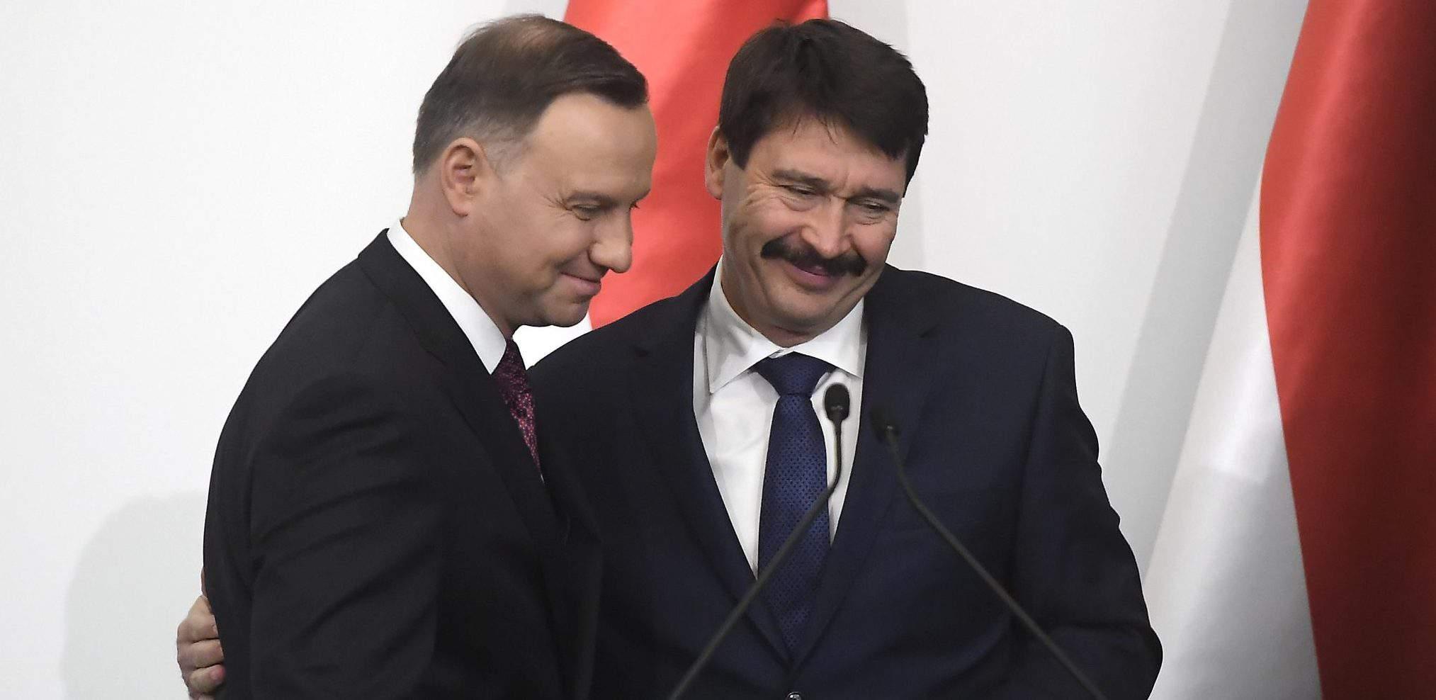 duda áder president hungary poland