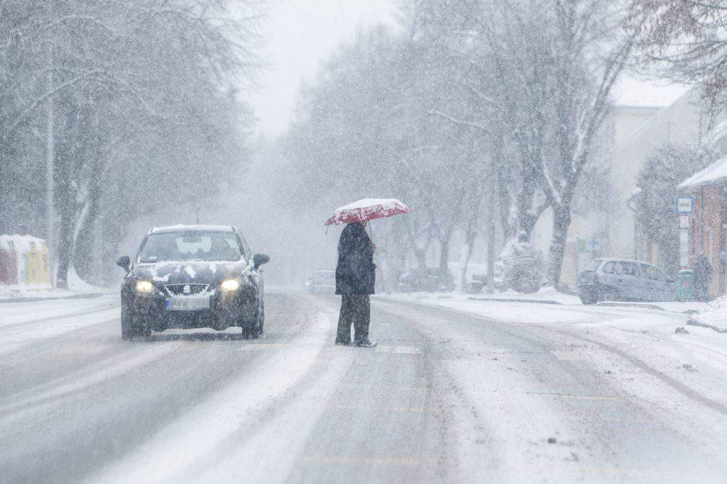 snow Hungary Nagykanizsa