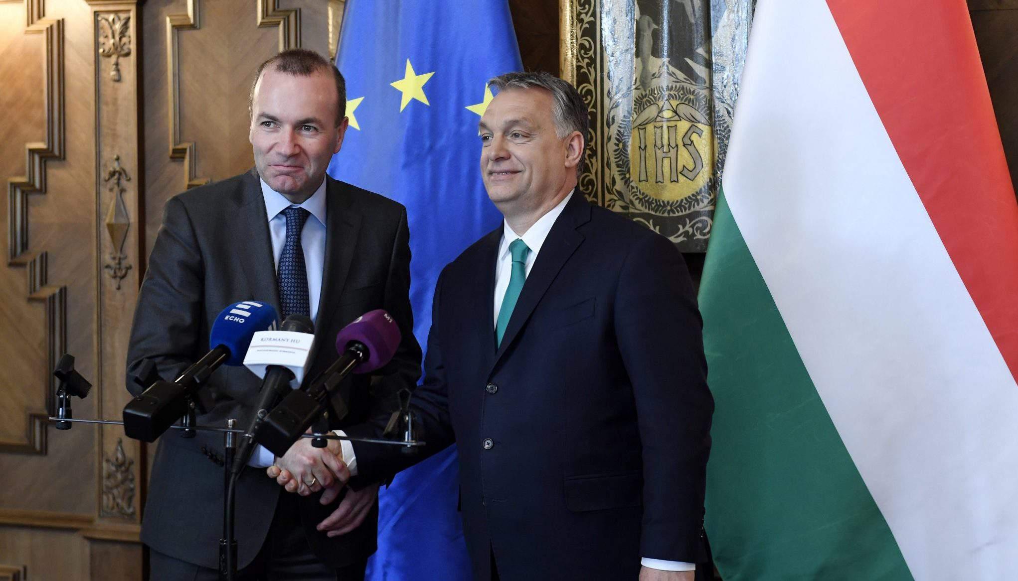 Viktor Orbán Manfred Weber