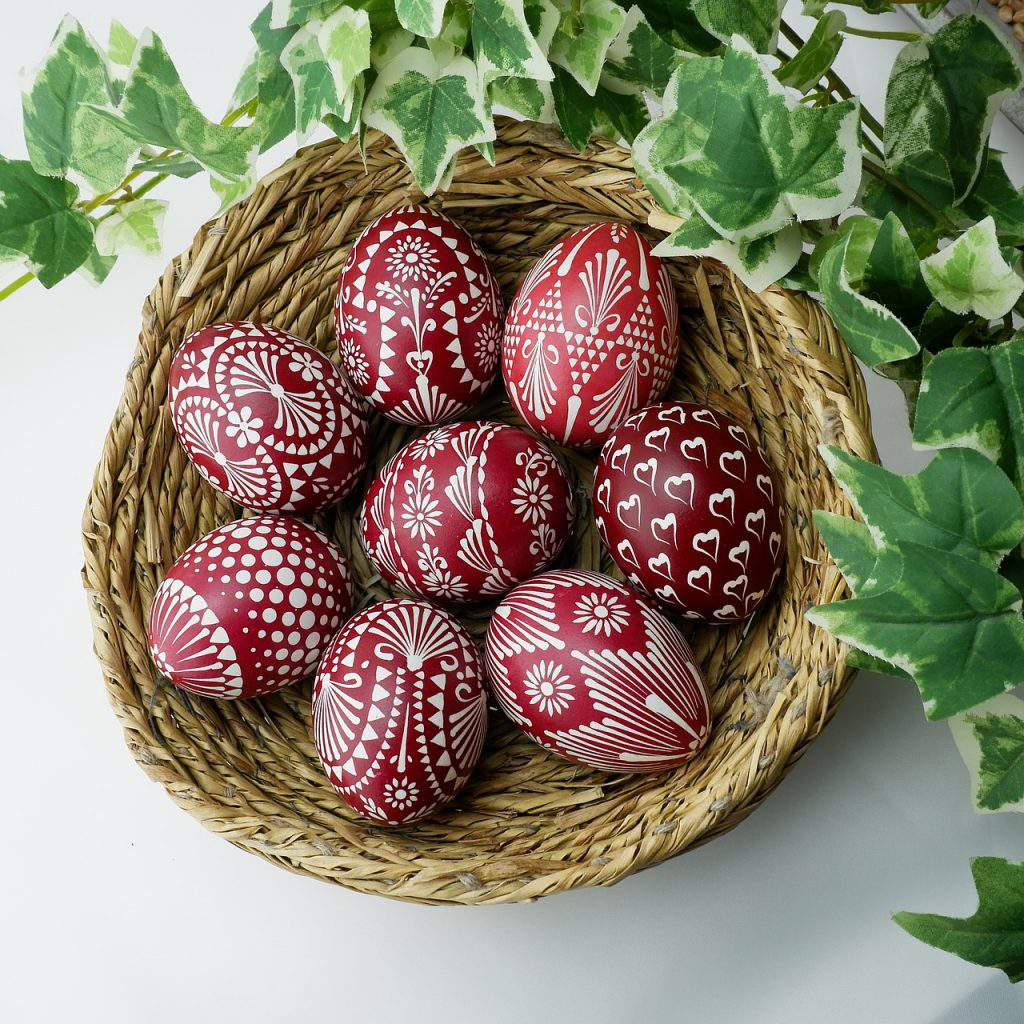 eggs easter red decorated